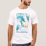Ours blancs et CUB - parc national de Denali, T-shirt