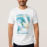Ours blancs et CUB - parc national de Denali, T Shirts