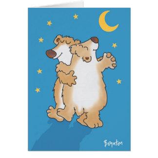 Ours d'anniversaire carte de vœux
