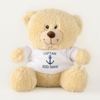 Ours En Peluche Cadeau nautique fait sur commande d'ours de