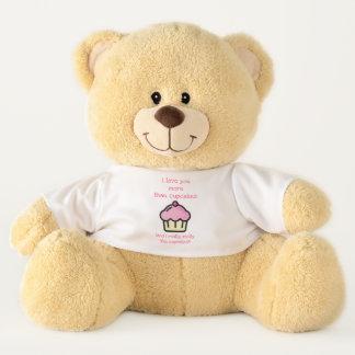 Ours En Peluche Je t'aime plus que des petits gâteaux ! Romantique