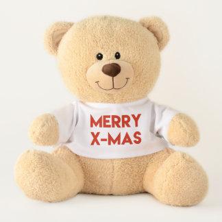 Ours En Peluche Joyeux Noël, Noël rouge moderne de typographie