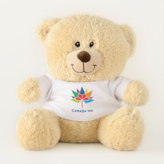 Ours En Peluche Logo de fonctionnaire du Canada 150 - multicolore