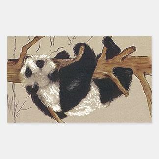 Ours panda espiègle de faune d'autocollant vers le