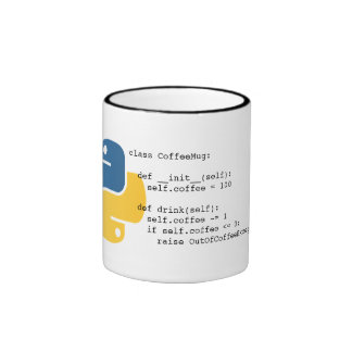 OutOfCoffeeException Pythonschlange-Tasse