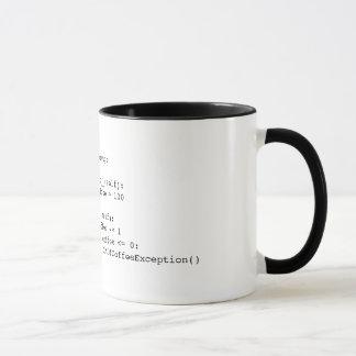 OutOfCoffeeException Pythonschlange-Tasse Tasse