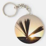 Ouvrez le livre et la photographie de coucher du s porte-clef