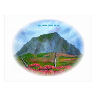 Oval Jeju-Insel-Koreas (제주도) Postkarte