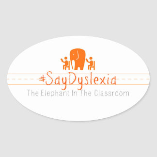 Ovale #SayDyslexia Aufkleber, Blatt von 4 Ovaler Aufkleber