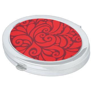 Ovaler Spiegel für Make-up Netz Schminkspiegel