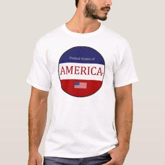 Ovales Amerika färbt modernen Designer-T - Shirt