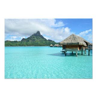 Overwater Erholungsort auf Bora Bora Fotodruck Fotodruck