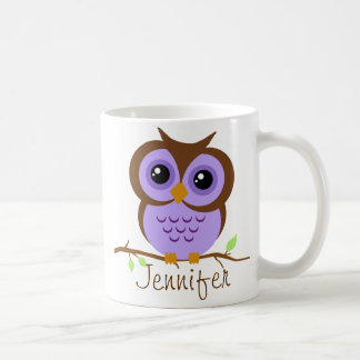 Owly lila personalisiertes tasse