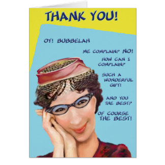 Oy Bubbelah! Danke zu kardieren Karte