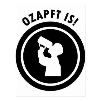 ozapftis bayerisches Oktoberfest Symbol Postkarte
