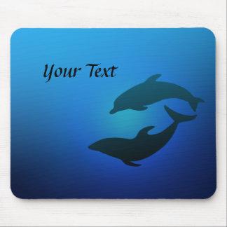 Ozean-Blau-Delphine Mousepad
