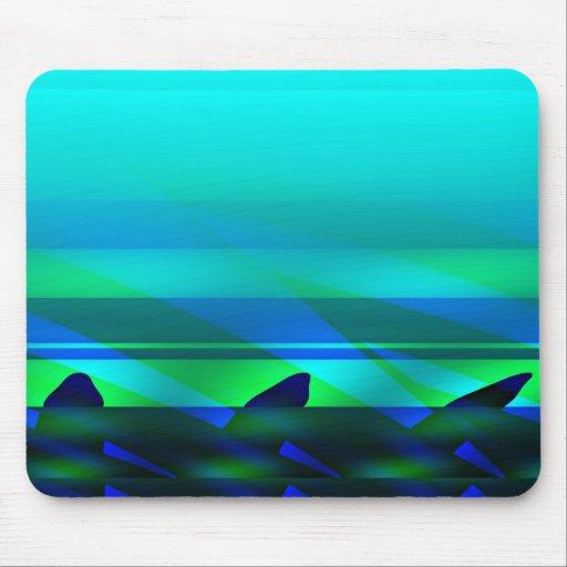 Ozean-Blau Mauspads