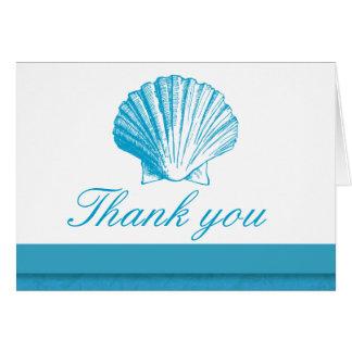 Ozean-Blau-SeeMuschel danken Ihnen Karte
