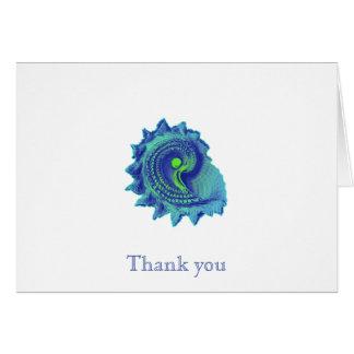 Ozean-Blau-Spirale-SeeMuschel danken Ihnen Mitteilungskarte