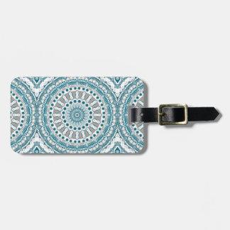 Ozean-Blau-und weißerseeMandala-Entwurf Gepäckanhänger