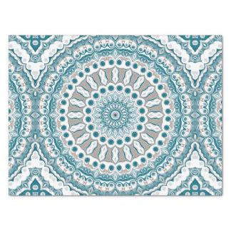 Ozean-Blau-und weißerseeMandala-Entwurf Seidenpapier
