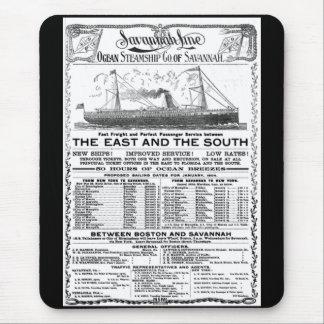 Ozean-Dampfer Co von Savanne 1904 Mousepads