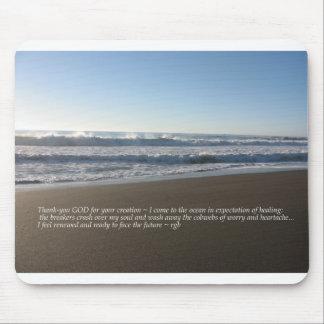 Ozean des Heilens Mousepads