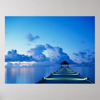 Ozean-Gleich-Dock-Plakat Poster