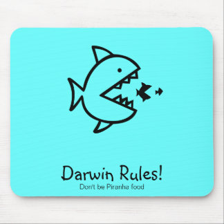 Ozean Glow_Darwin Regeln! Mousepad
