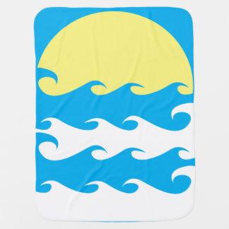 Ozean-Hintergrund-Illustration Babydecke