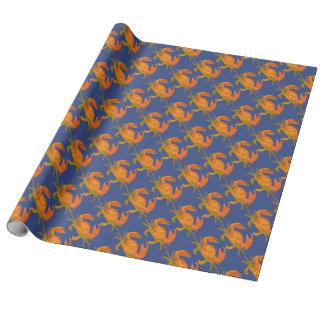 Ozean-Krabben Einpackpapier
