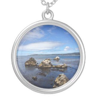 Ozean-Liebe-Halskette Versilberte Kette
