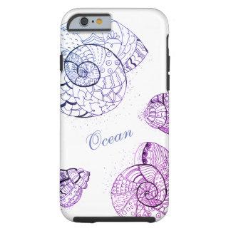 Ozean-Muscheln-Telefon-Kasten Tough iPhone 6 Hülle