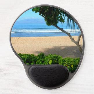 Ozean-Palme-Strand-Szene Gel Mousepads