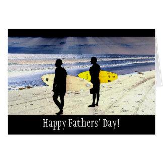 Ozean Rays der Vatertags-Karte Surfer- Karte