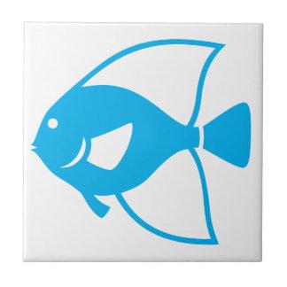 Ozean-Seeblaue Fisch-weißer Fliese