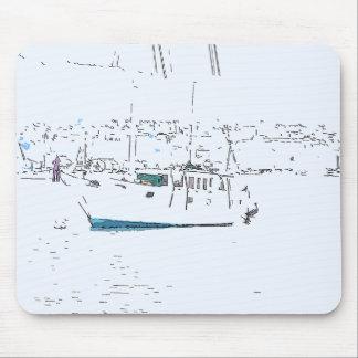 Ozean-Segeln-Segelboot-Boots-Hafen-Seejachthafen Mousepads