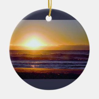 Ozean-Sonnenaufgang-Foto Rundes Keramik Ornament