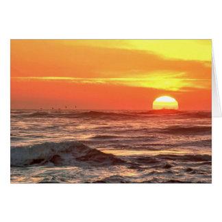 Ozean-Sonnenuntergang-Anzeige Karte