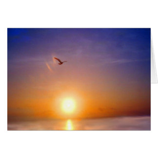 Ozean-Sonnenuntergang, der an Sie denkt Grußkarte