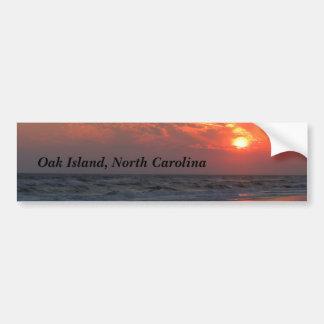 Ozean-Sonnenuntergang - Eichen-Insel, NC Autoaufkleber