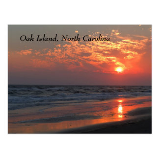 Ozean-Sonnenuntergang - Eichen-Insel, NC Postkarte