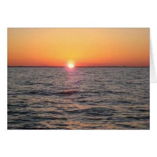 Ozean-Sonnenuntergang Karte