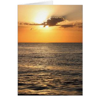 Ozean-Sonnenuntergang Mitteilungskarte