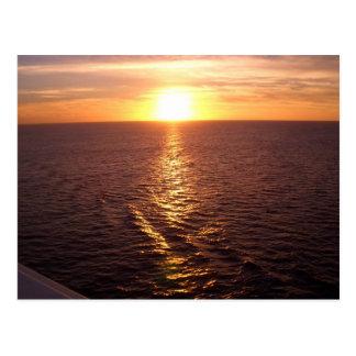 Ozean-Sonnenuntergang-Postkarte Postkarte
