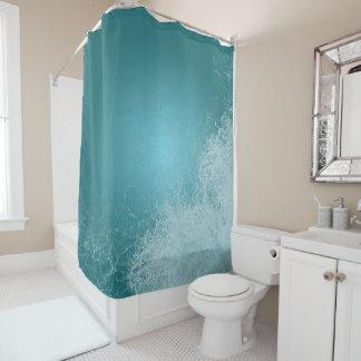 Ozean-Spritzen-Ruhe-Blau-Wellen Duschvorhang