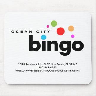 Ozean-Stadt-Bingo Mousepad