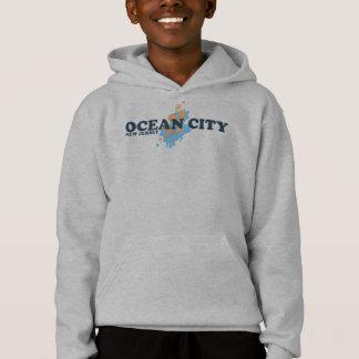 Ozean-Stadt Hoodie