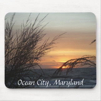 Ozean-Stadt-Sonnenaufgang, Mausunterlage Mauspad