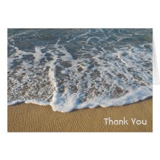 Ozean-Strand-Sommer-Gewohnheit danken Ihnen zu Mitteilungskarte